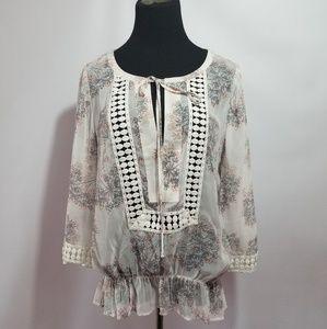 NWT Daniel Rainn stitch fix BOHO blouse top